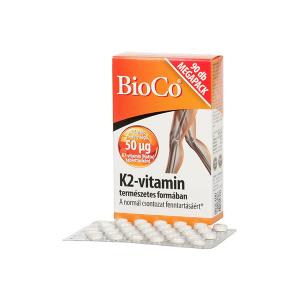 Bioco K2-vitamin 50 mikrogramm 90 db
