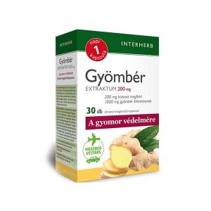 Interherb Gyömbér Extraktum 200 mg kapszula 30db