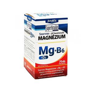 Jutavit Szerves Magnézium-B6+D3-vitamin filmtabletta 70x