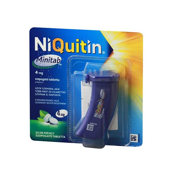 Niquitin Minitab 4mg Préselt Szopogató Tabletta 20x