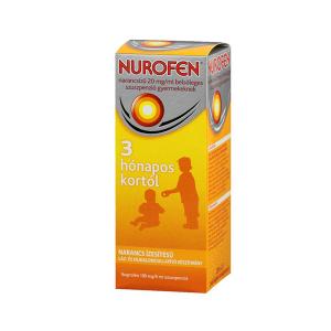 Nurofen Narancsízű 20mg/ml Belsőleges Szuszpenzió Gyermekeknek 200ml