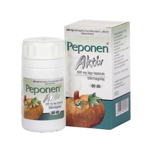 Peponen aktív 600 mg lágy kapszula 60x