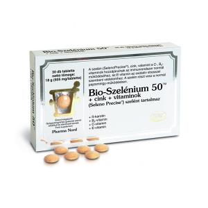 Pharmanord Bio-Szelénium 50 +cink+vitaminok 30x