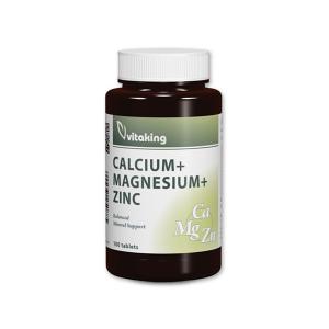 Vitaking Kalcium + Magnézium + Cink tabletta 100x
